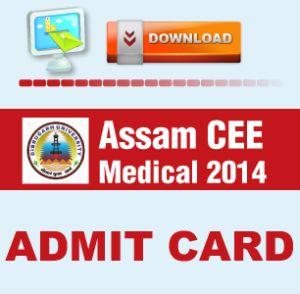 Assam CEE 2014 Admit Card