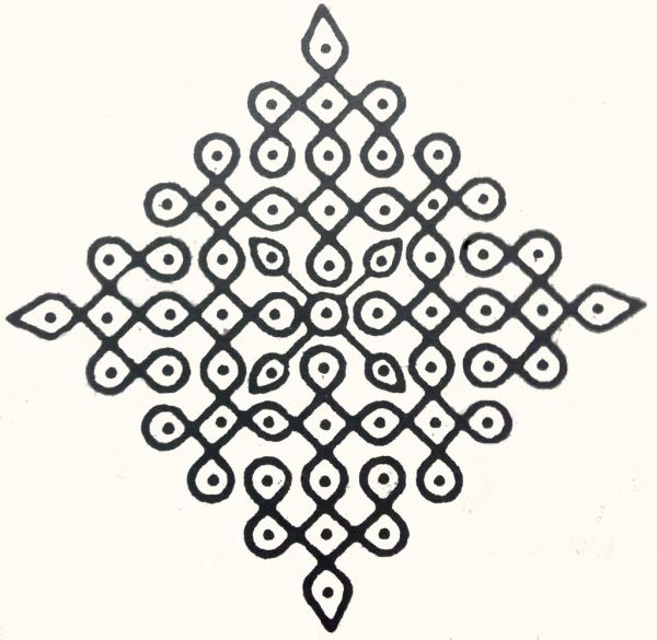 Rice Kolam Design