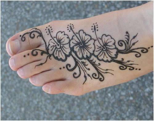arabic mehndi design foot