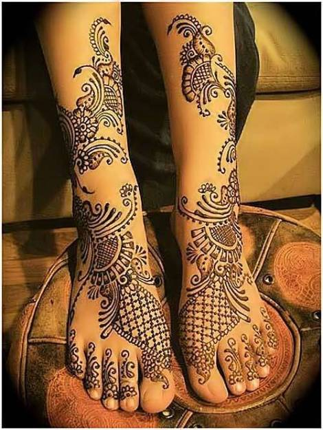 Mehndi Designs For Hands Amp Legs : Bridal mehndi designs best collection for hands and leg