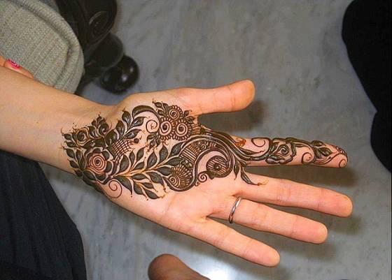 arabic mehendi pattern