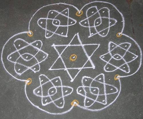 kolam designs with dots