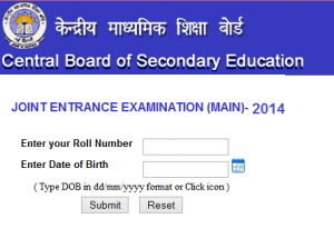 JEE Main Results 2014