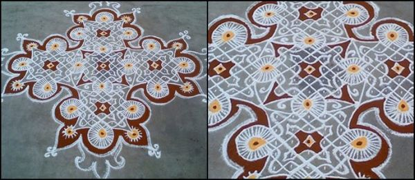 Colored Kolam Design