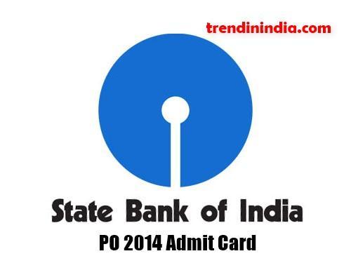 SBI PO 2014 admit card
