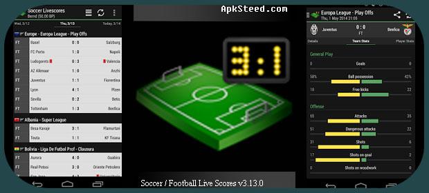 Soccer Football Live scores App