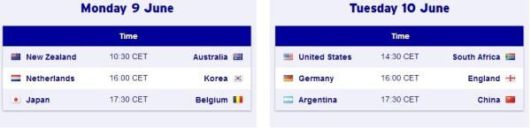 hockey world cup 2014 schedule