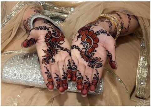 black and white mehendi design for hands
