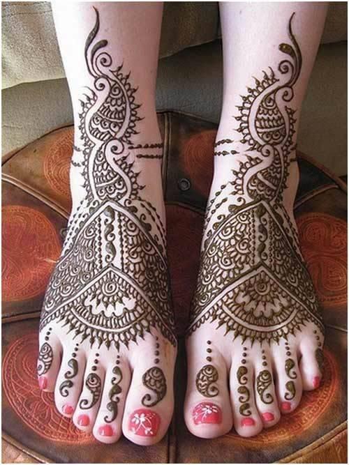 mehndi for feet