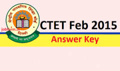 CTET 2015 Answer Key