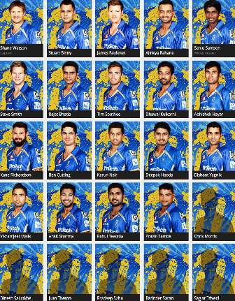 Rajasthan Royals team 2015