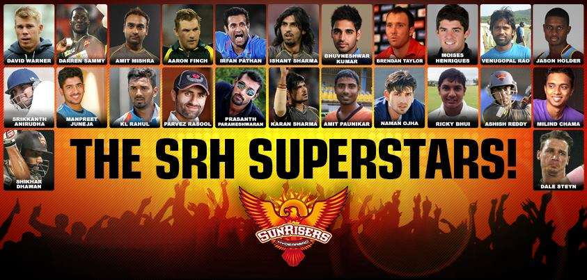 Team Sunrisers Hyderabad Pepsi IPL