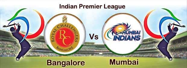 Watch Royal Chalengers vs Mumbai Indians live