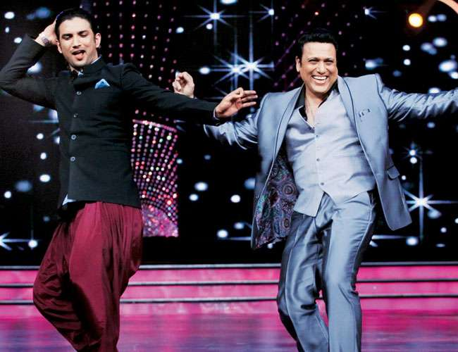 Sushant Singh dancing with Govindia