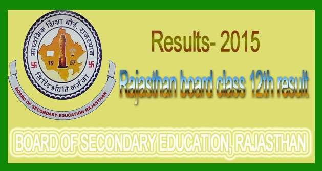 rajasthan board result 2015